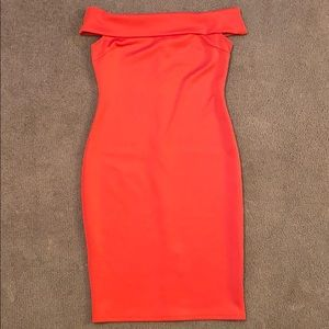 Off the shoulder, bodycon dress size medium